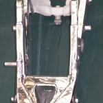 Alumínium motoralváz felújítva, polírozva